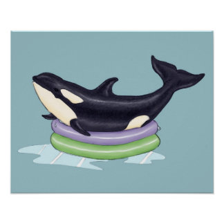 Orca kiddie pool poster