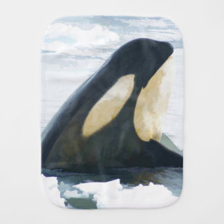 Orca Killer Whale Burp Cloth