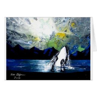ORCA KILLER WHALE HAVING FUN IN THE SUN CARD