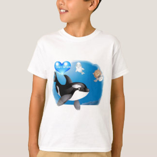 Orca (Killer Whale) I heart designs T-Shirt