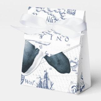Orca Map Blue Favor Box