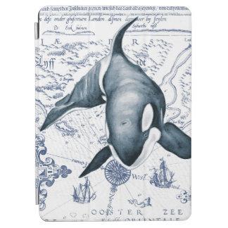 Orca Map Blue iPad Air Cover