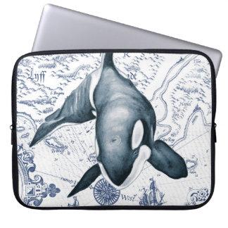 Orca Map Blue Laptop Sleeve