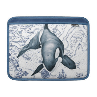 Orca Map Blue MacBook Sleeve