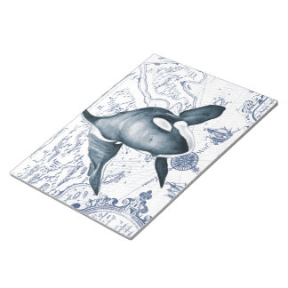 Orca Map Blue Notepad