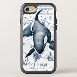 Orca Map Blue OtterBox Symmetry iPhone 7 Case