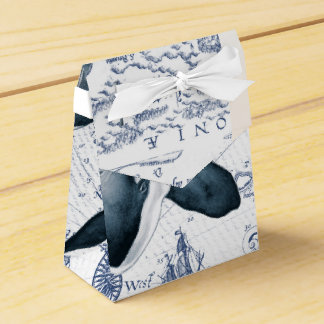 Orca Map Blue Party Favor Box