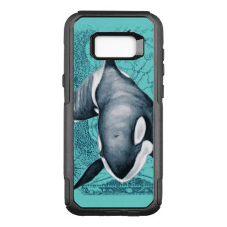 Orca Map Teal OtterBox Commuter Samsung Galaxy S8+ Case