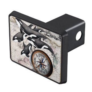 Orca Nautical Compass Trailer Hitch Cover