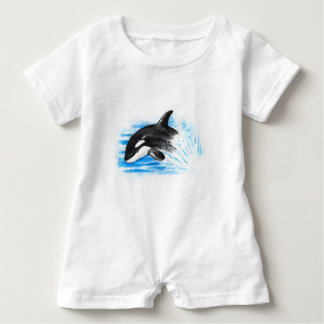 Orca Playing Baby Romper