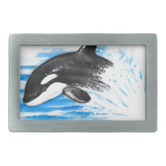 Orca Playing Belt Buckles