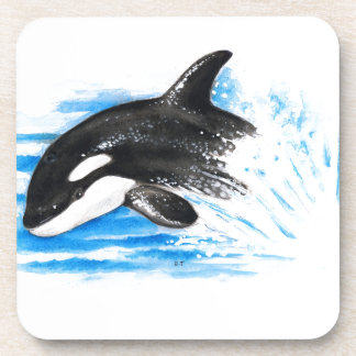 Orca Playing Coaster