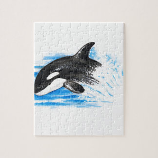 Orca Playing Jigsaw Puzzle