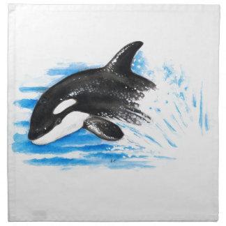 Orca Playing Napkin