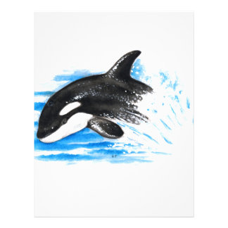 Orca Playing Personalized Letterhead