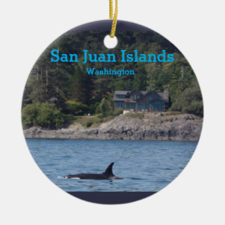 Orca San Juan Islands Washington State Ornament