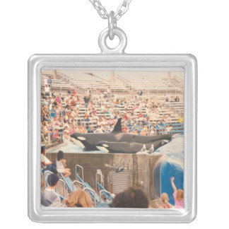 Orca Show Silver Plated Necklace