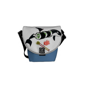 Orca sushi! courier bags