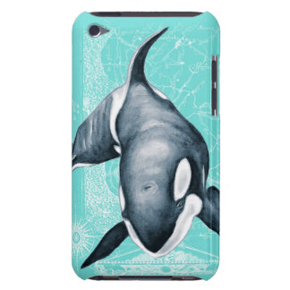 Orca Teal White Barely There iPod Case
