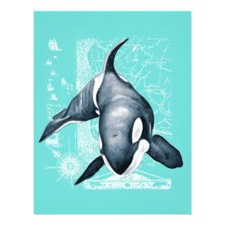 Orca Teal White Letterhead