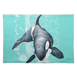 Orca Teal White Placemat