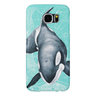 Orca Teal White Samsung Galaxy S6 Cases