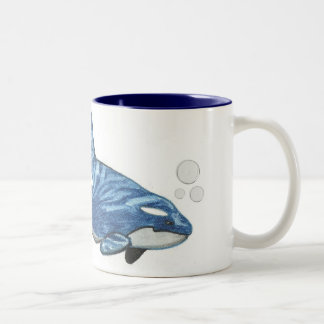 """Orca"" Two-Tone Coffee Mug"