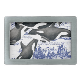 Orca Vintage Map II Belt Buckles