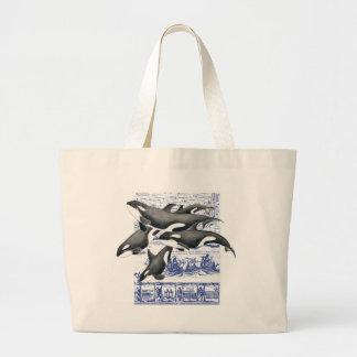 Orca Vintage Map II Large Tote Bag