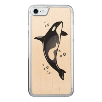 Orca Whale Carved iPhone 7 Case