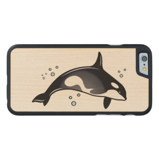 Orca Whale Carved Maple iPhone 6 Case
