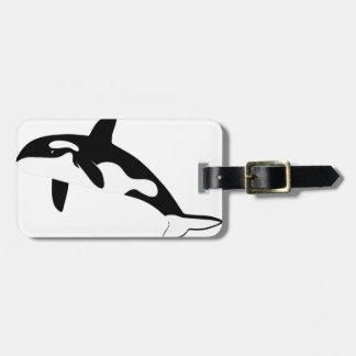 orca whale dolphin dolphin sword whale whale luggage tag