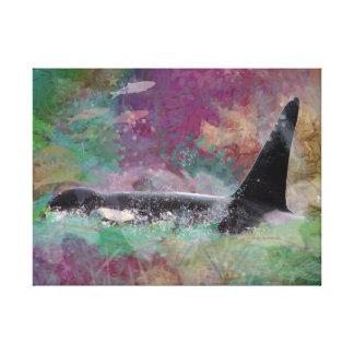 Orca Whale Fantasy Dream - I Love Whales Canvas Print