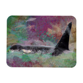 Orca Whale Fantasy Dream - I Love Whales Magnet