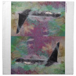 Orca Whale Fantasy Dream - I Love Whales Napkin