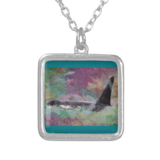 Orca Whale Fantasy Dream - I Love Whales Silver Plated Necklace