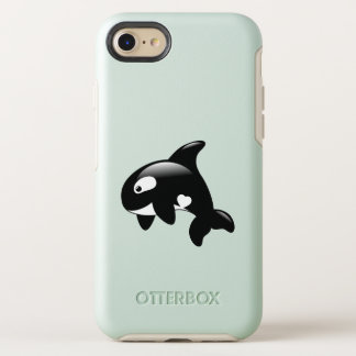 Orca Whale in Ocean OtterBox Symmetry iPhone 8/7 Case