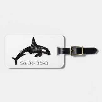 Orca Whale Luggage Tag
