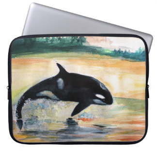 "Orca Whale Neoprene Laptop Sleeve 15"""