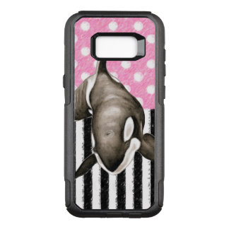 Orca Whale  pink polka dot OtterBox Commuter Samsung Galaxy S8+ Case
