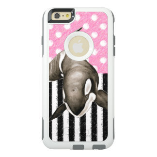 Orca Whale  pink polka dot OtterBox iPhone 6/6s Plus Case