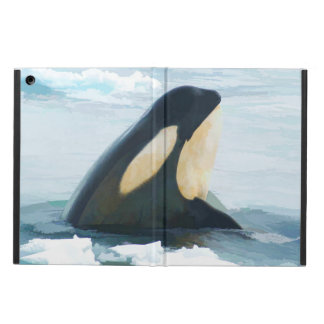 Orca Whale Spyhop blue iPad Air Cover