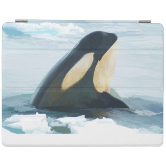 Orca Whale Spyhop blue iPad Cover