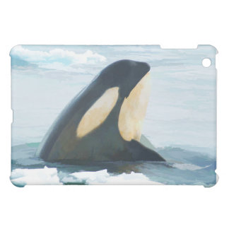 Orca Whale Spyhop blue iPad Mini Covers