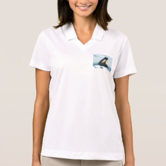 Orca Whale Spyhop blue Polo Shirt