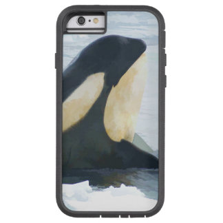 Orca Whale Spyhop blue Tough Xtreme iPhone 6 Case