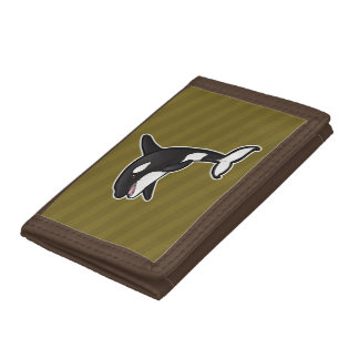 Orca Whale Trifold Wallets