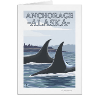 Orca Whales #1 - Anchorage, Alaska Card