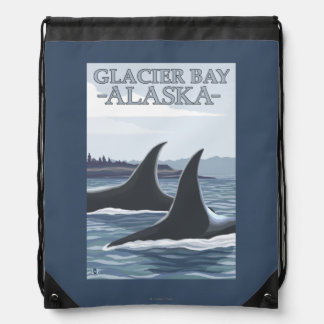 Orca Whales #1 - Glacier Bay, Alaska Cinch Bag