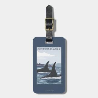 Orca Whales #1 - Gulf of Alaska Bag Tag